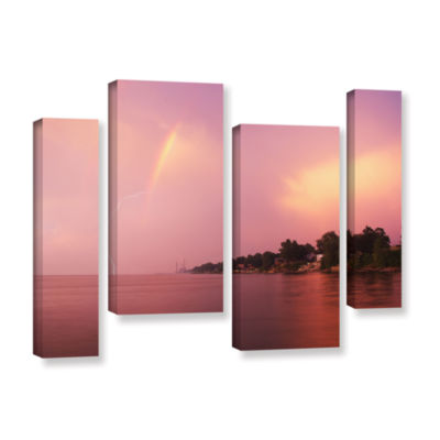 Brushstone Rainbows And Lightning 4-pc. Gallery Wrapped Staggered Canvas Wall Art