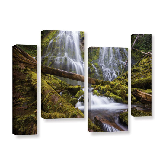Brushstone Proxy Falls Oregon 4 4-pc. Gallery Wrapped Staggered Canvas Wall Art