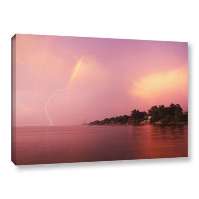 Brushstone Rainbows And Lightning Gallery WrappedCanvas Wall Art