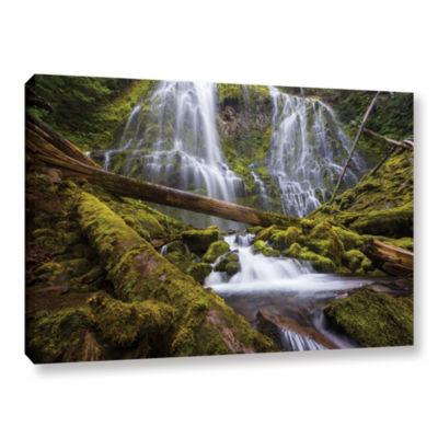 Brushstone Proxy Falls Oregon 4 Gallery Wrapped Canvas Wall Art