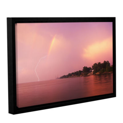 Brushstone Rainbows And Lightning Gallery WrappedFloater-Framed Canvas Wall Art