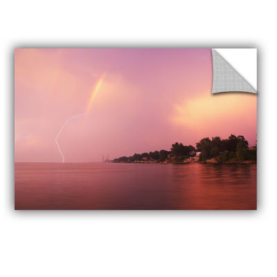 Brushstone Rainbows And Lightning Removable Wall Decal