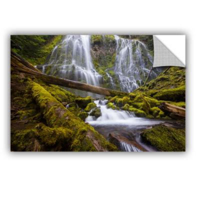 Brushstone Proxy Falls Oregon 4 Removable Wall Decal