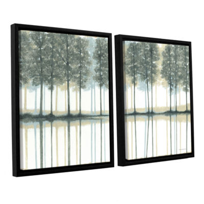 Brushstone Reflection 2-pc. Floater Framed CanvasWall Art