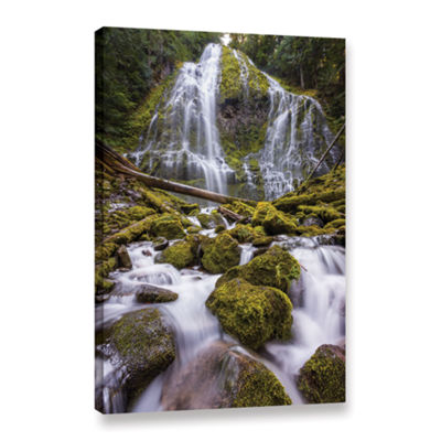 Brushstone Proxy Falls Oregon 5 Gallery Wrapped Canvas Wall Art