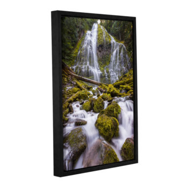 Brushstone Proxy Falls Oregon 5 Gallery Wrapped Floater-Framed Canvas Wall Art