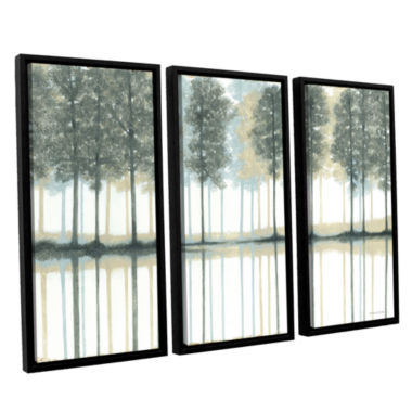 Brushstone Reflection 3-pc. Floater Framed CanvasWall Art