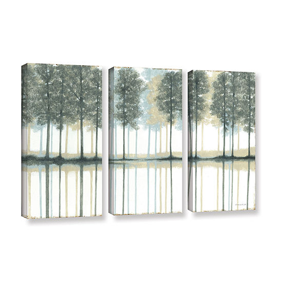 Brushstone Reflection 3 Pc Gallery Wrapped Canvaswall Art