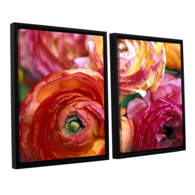 Brushstone Ranunculus Close Up 2-pc. Floater Framed Canvas Wall Art
