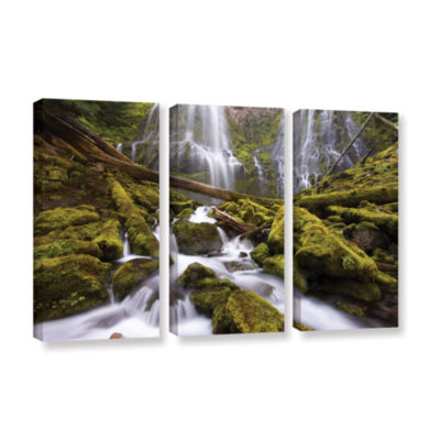 Brushstone Proxy Falls Oregon 6 3-pc. Gallery Wrapped Canvas Wall Art