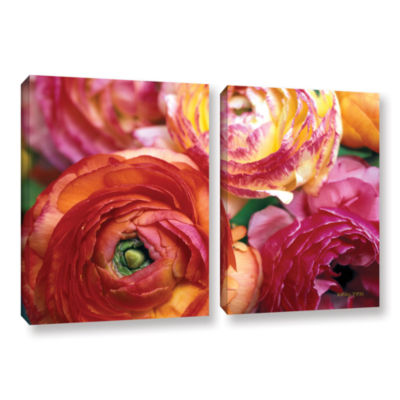 Brushstone Ranunculus Close Up 2-pc. Gallery Wrapped Canvas Wall Art