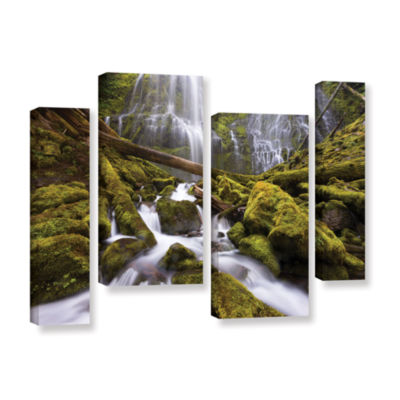 Brushstone Proxy Falls Oregon 6 4-pc. Gallery Wrapped Staggered Canvas Wall Art