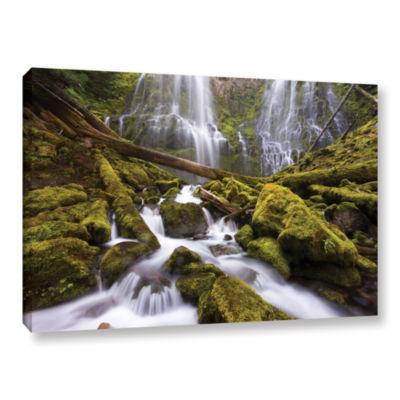 Brushstone Proxy Falls Oregon 6 Gallery Wrapped Canvas Wall Art