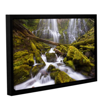 Brushstone Proxy Falls Oregon 6 Gallery Wrapped Floater-Framed Canvas Wall Art