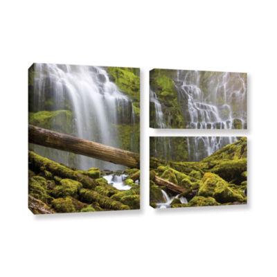Brushstone Proxy Falls Oregon 7 3-pc. Flag GalleryWrapped Canvas Wall Art