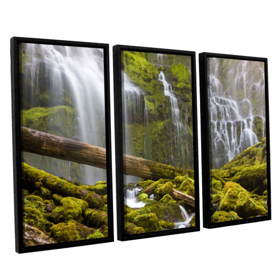 Brushstone Proxy Falls Oregon 7 3-pc. Floater Framed Canvas Wall Art