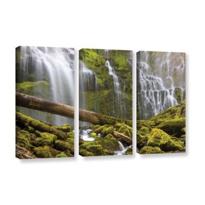 Brushstone Proxy Falls Oregon 7 3-pc. Gallery Wrapped Canvas Wall Art
