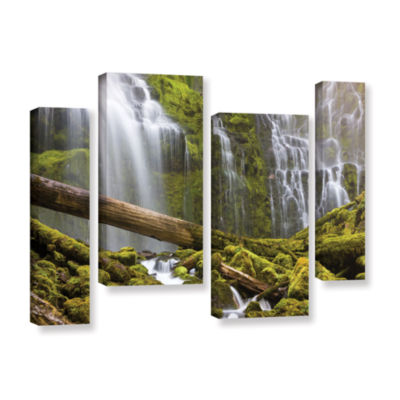 Brushstone Proxy Falls Oregon 7 4-pc. Gallery Wrapped Staggered Canvas Wall Art