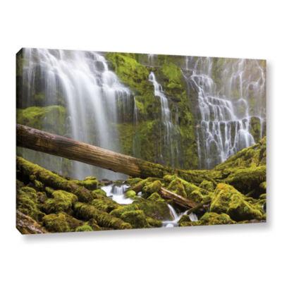 Brushstone Proxy Falls Oregon 7 Gallery Wrapped Canvas Wall Art
