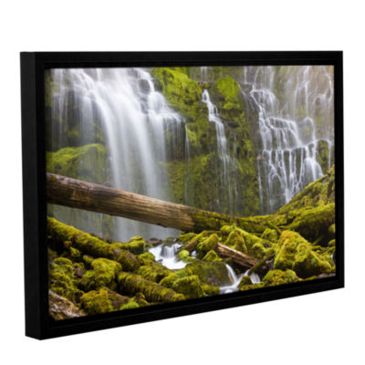 Brushstone Proxy Falls Oregon 7 Gallery Wrapped Floater-Framed Canvas Wall Art