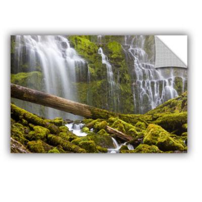 Brushstone Proxy Falls Oregon 7 Removable Wall Decal