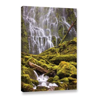 Brushstone Proxy Falls Oregon 8 Gallery Wrapped Canvas Wall Art