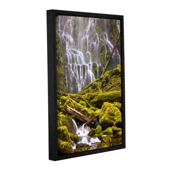 Brushstone Proxy Falls Oregon 8 Gallery Wrapped Floater-Framed Canvas Wall Art