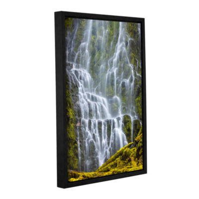 Brushstone Proxy Falls Oregon 9 Gallery Wrapped Floater-Framed Canvas Wall Art