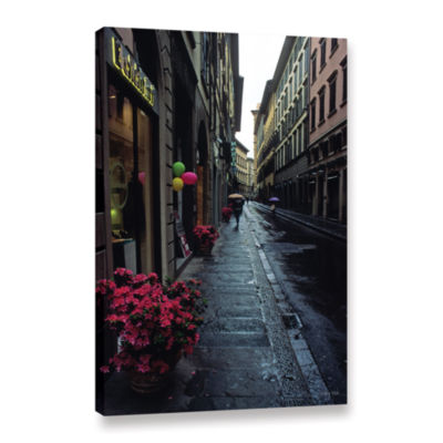 Brushstone Rainy Day In Florence Gallery Wrapped Canvas Wall Art