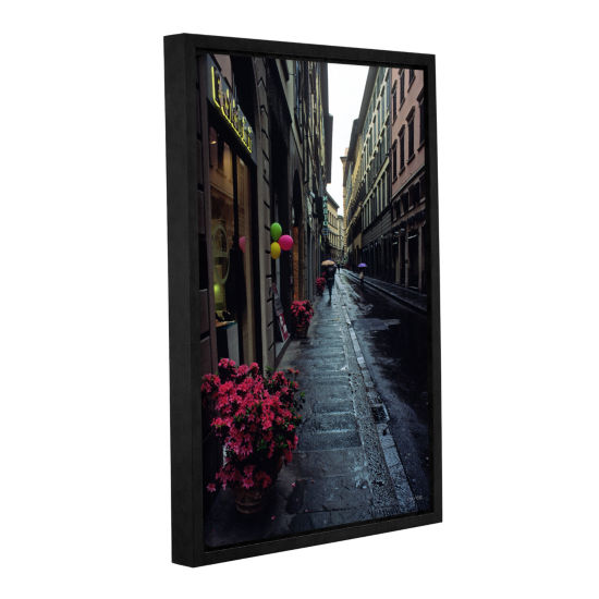 Brushstone Rainy Day In Florence Gallery Wrapped Floater-Framed Canvas Wall Art