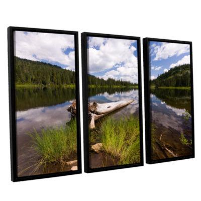 Brushstone Reflection Lake Mt Rainier 3-pc. Floater Framed Canvas Wall Art