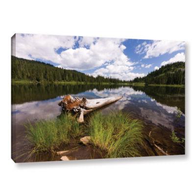 Brushstone Reflection Lake Mt Rainier Gallery Wrapped Canvas Wall Art