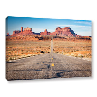 Brushstone Road To Monument Valley Gallery WrappedCanvas Wall Art