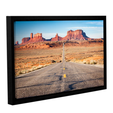 Brushstone Road To Monument Valley Gallery WrappedFloater-Framed Canvas Wall Art
