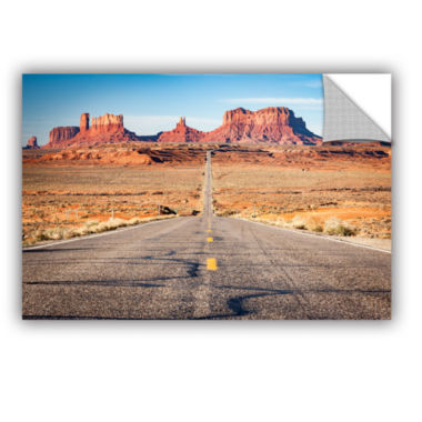 Brushstone Road To Monument Valley Removable WallDecal