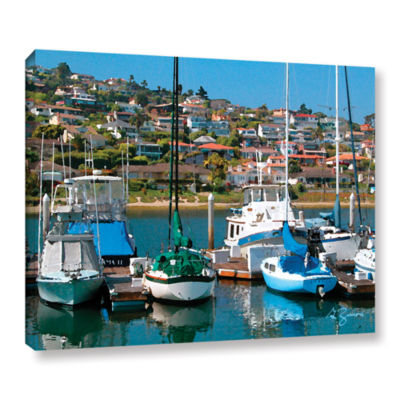 Brushstone Point Loma Sd Gallery Wrapped Canvas Wall Art