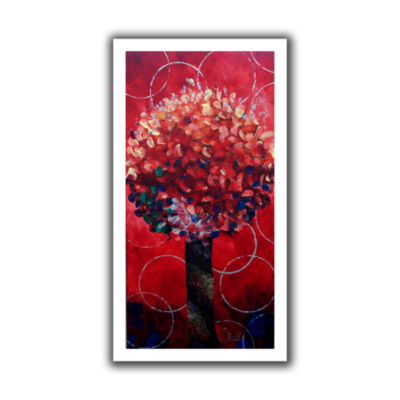 Brushstone Red Lolli Pop Canvas Wall Art