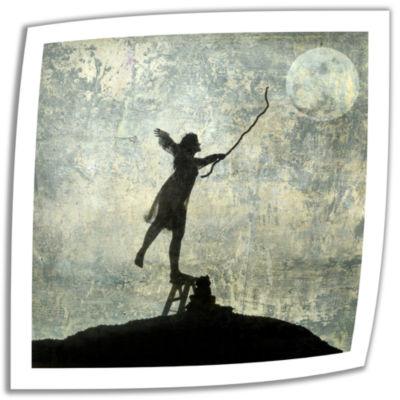 Brushstone Reach For The Moon Canvas Wall Art