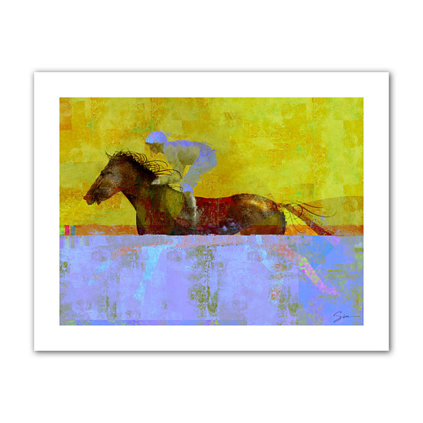 Brushstone Rising Steed Canvas Wall Art