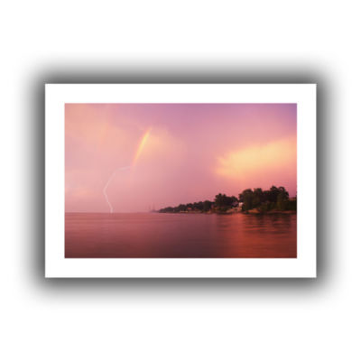 Brushstone Rainbows And Lightning Canvas Wall Art