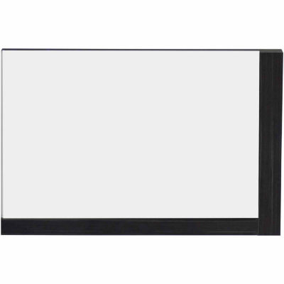 American Imaginations 35.5-in. W X 23.5-in. H Modern Plywood-Melamine Wood Mirror In Dawn Grey