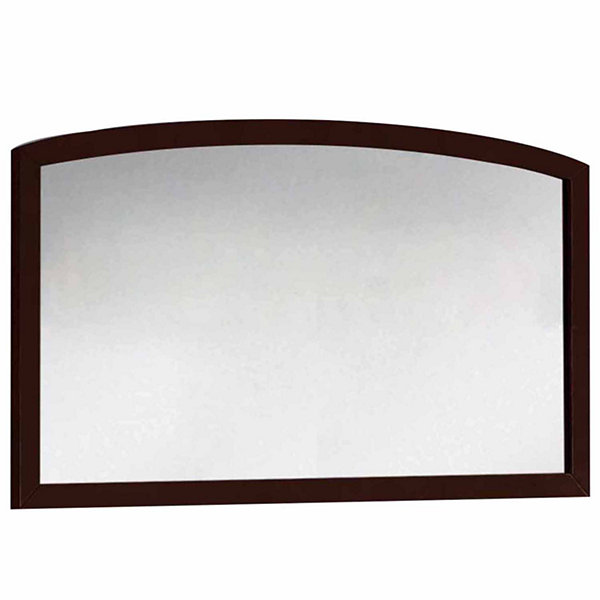 American Imaginations 47.24-in. W X 25.6-in. H Modern Birch Wood-Veneer Wood Mirror In Coffee
