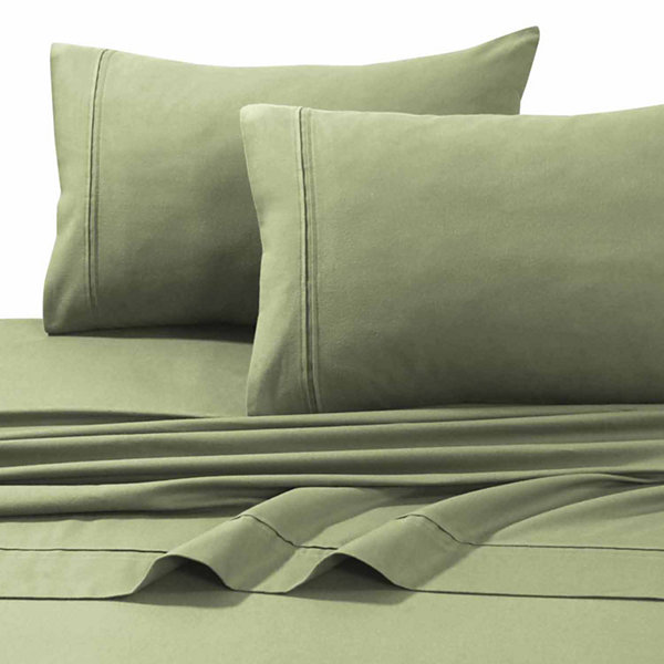 Tribeca Living Solid Flannel Flannel Sheet Set