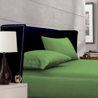 Tribeca Living 500 Thread Count Egyptian Cotton Sateen Flat Sheet