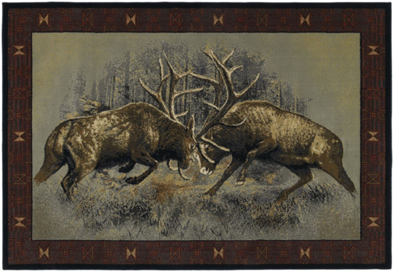 United Weavers Buckwear Collection Fight For Dominance Rectangular Rug