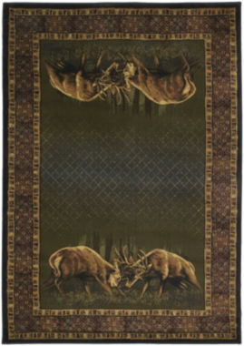 United Weavers Buckwear Collection Winner Takes All Rectangular Rug