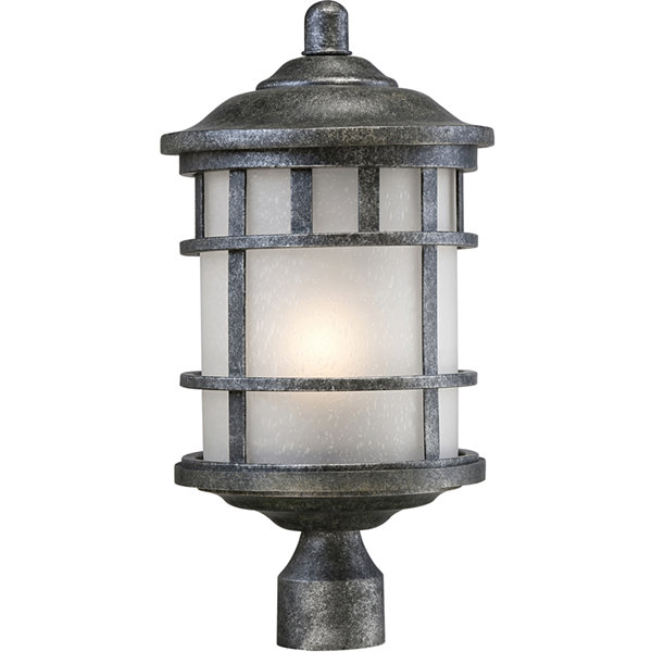 Filament Design 1-Light Aged Silver Outdoor Post Light
