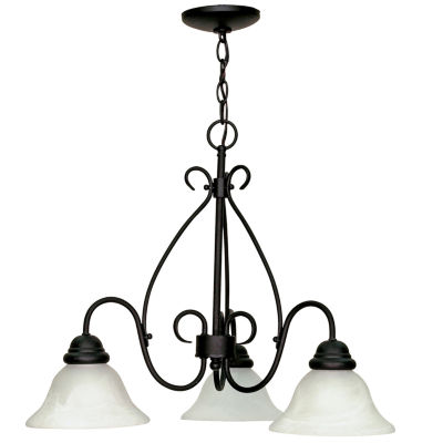 Filament Design 3-Light Textured Black Chandelier