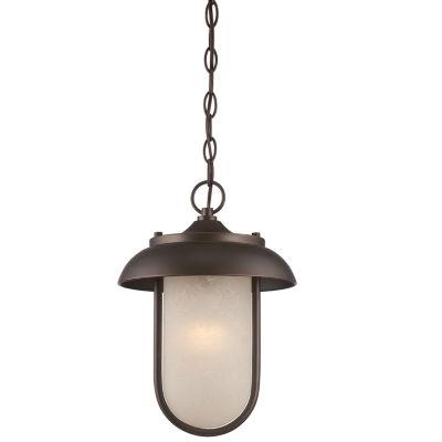 Filament Design 1-Light Mahogany Bronze Outdoor Hanging Lantern