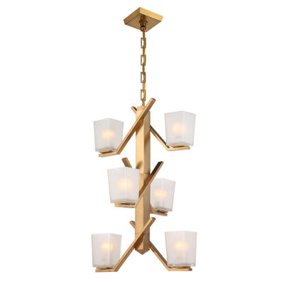 Filament Design 6-Light Vintage Brass Pendant